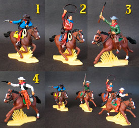 Cowboys Mounted set #1