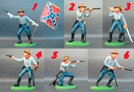 Confederate troops foot