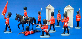 Royal Guards with red flag