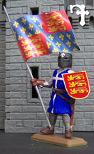 Knight with flag