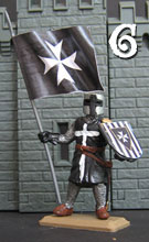 Hospitaller Knight with flag