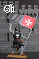 Knight of The Hospita with banner