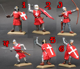 Hospitaller Knights in red tunics set