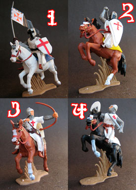 Templar Knights on Horseback