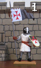 Templar Knight with flag