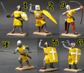 Knights in yellow tunics set