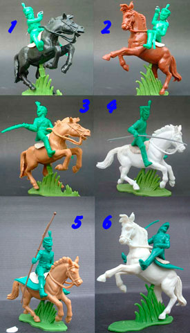 Napoleonic Cavalry in Green Plastic