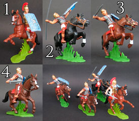 Romans on horseback
