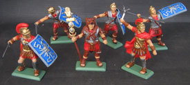 Romans in metallic bases