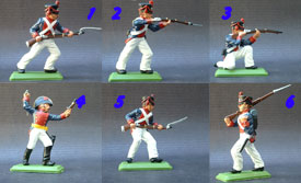 EL ALAMO Mexican infantry set