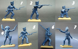 Napoleonic Infantry unpainted set in blue