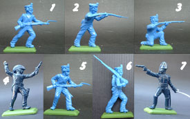 Napoleonic Infantry unpainted set in light blue